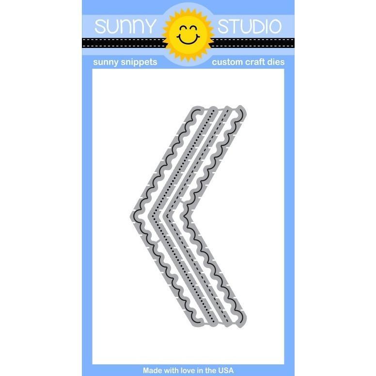 Sunny Studio Stamps Fishtail Banner dies