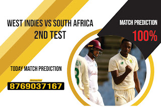WI vs SA 2nd Match Test South Africa tour of West Indies 100% Sure Match Prediction