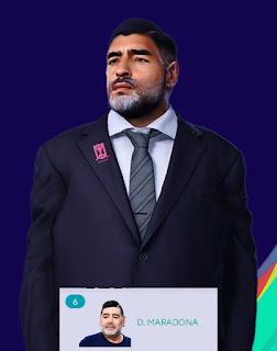 PES 2021 Faces Diego Maradona by Qiya