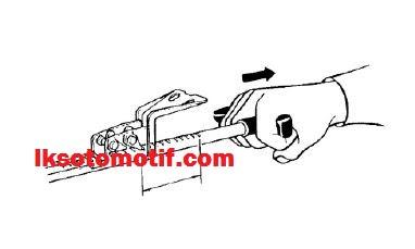 menyetel rem tangan mobil colt diesel