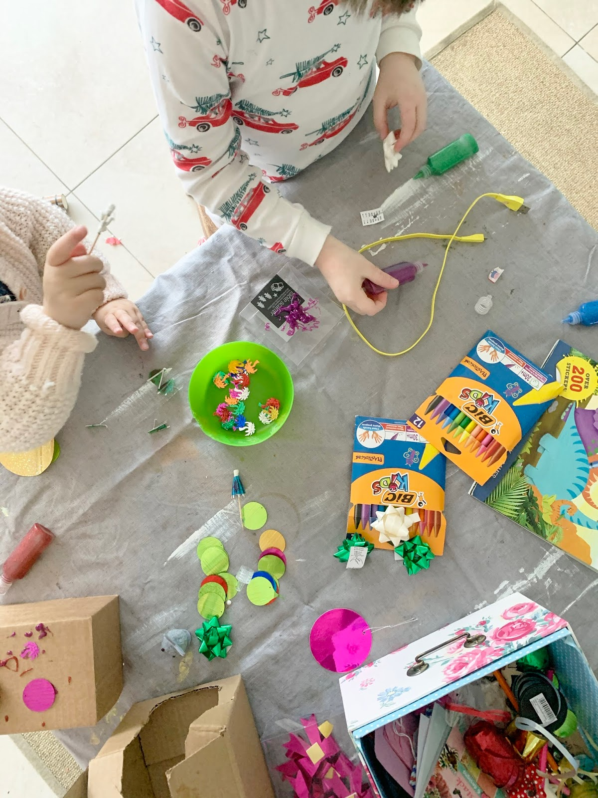 How to craft with children under five