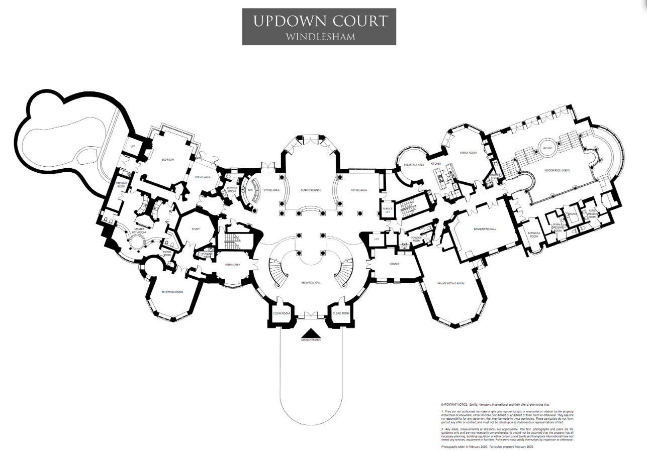 Mansions Amp More Floor Plans To Updown Court
