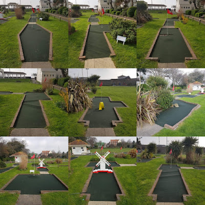 Holes 1-9 of the Splash Point Mini Golf course in Worthing