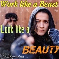 Motivational Quotes for Gym, Work like a beast look like a beauty