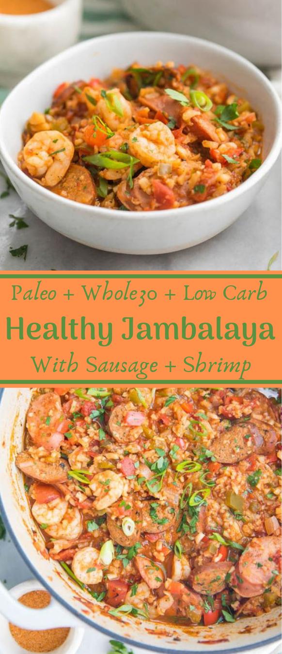 Healthy Jambalaya with Sausage & Shrimp  #diet #healthyrecipes #jambalaya #paleo #keto #easy