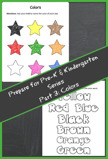 Colors practice for preschool