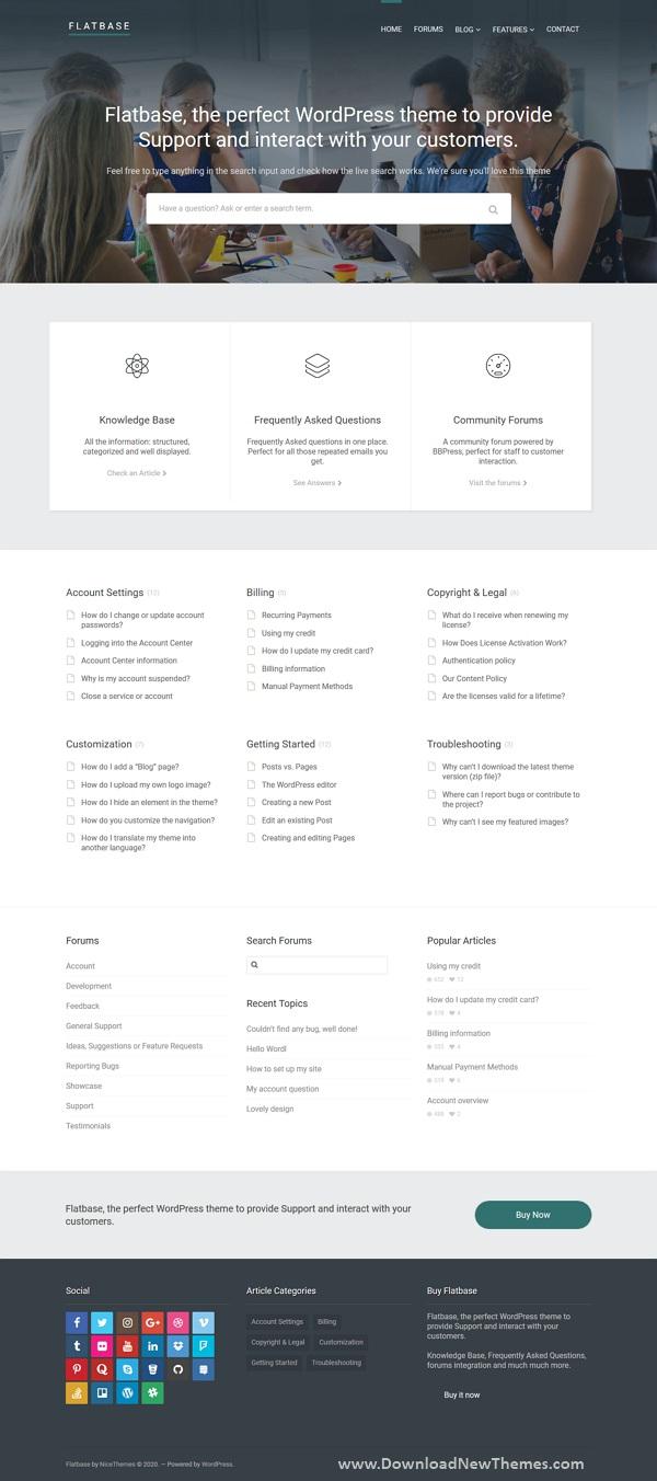 Responsive Knowledge Base/Wiki Theme
