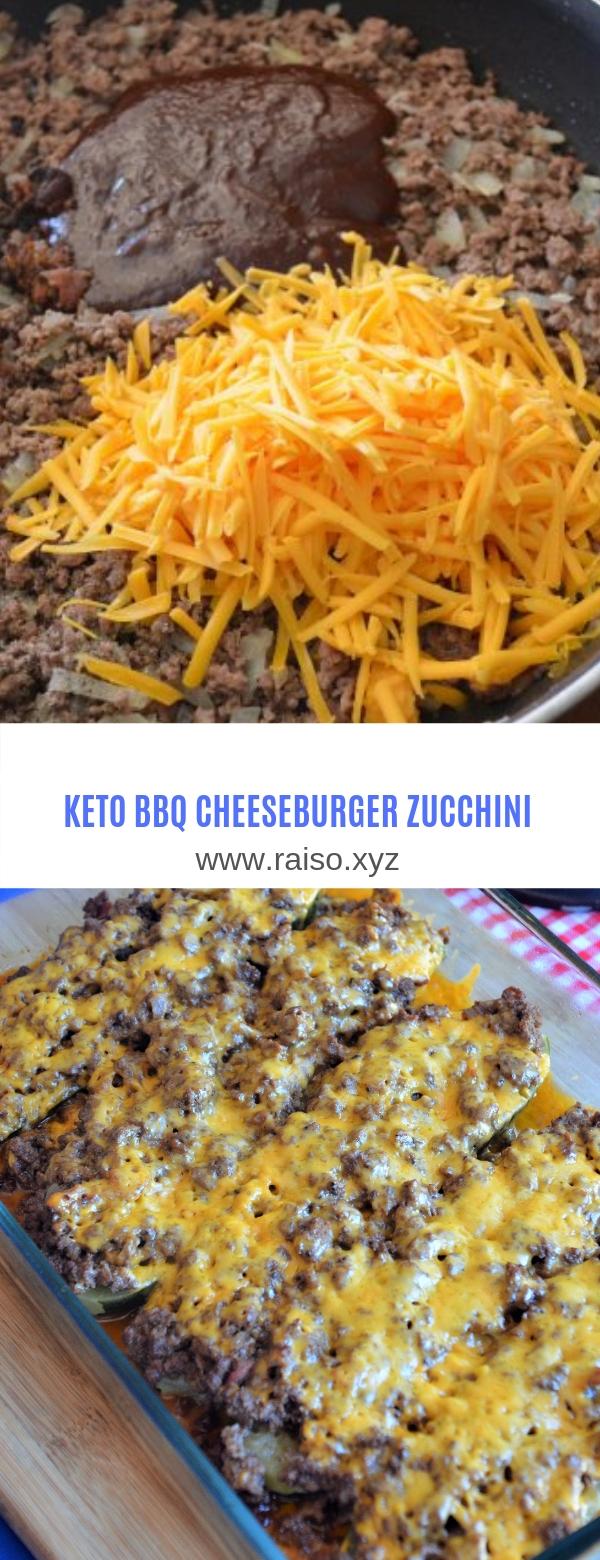 KETO BBQ CHEESEBURGER ZUCCHINI