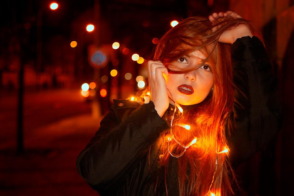 Klárka - noční portrét