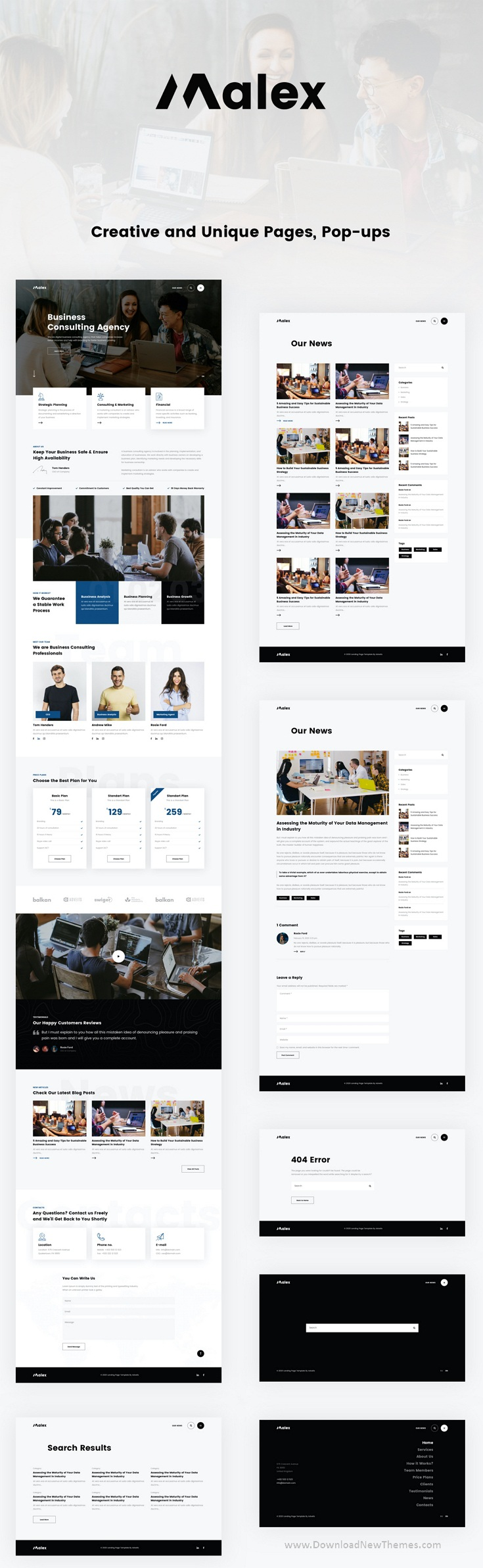 Business Consulting Agency Sketch Template