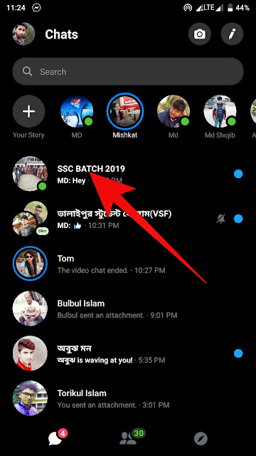dark mode in messenger