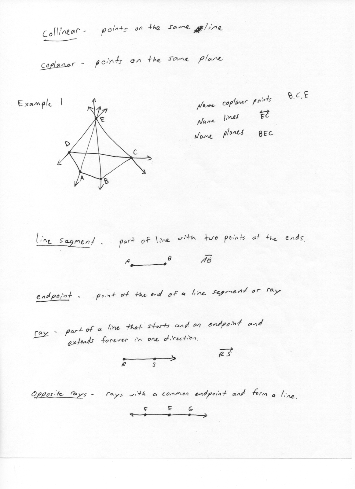 Mr Jimenez S Geometry Class Points Planes And Lines