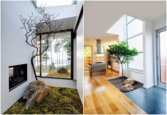 Casa detalles peque o jard n interior small indoor garden - Casas con jardin interior ...