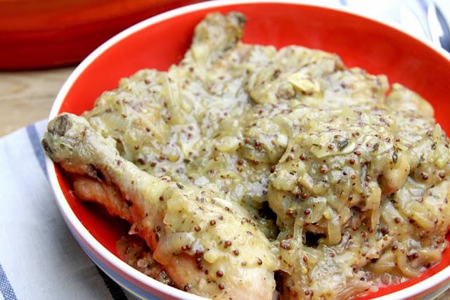Kurczak w sosie winno - musztardowym