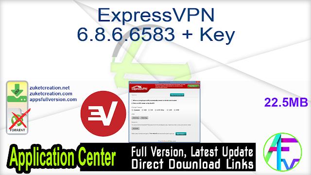 ExpressVPN 6.8.6.6583 + Key