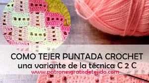 Cómo Tejer Puntada Fantasía C2C a Crochet / Tutorial en español