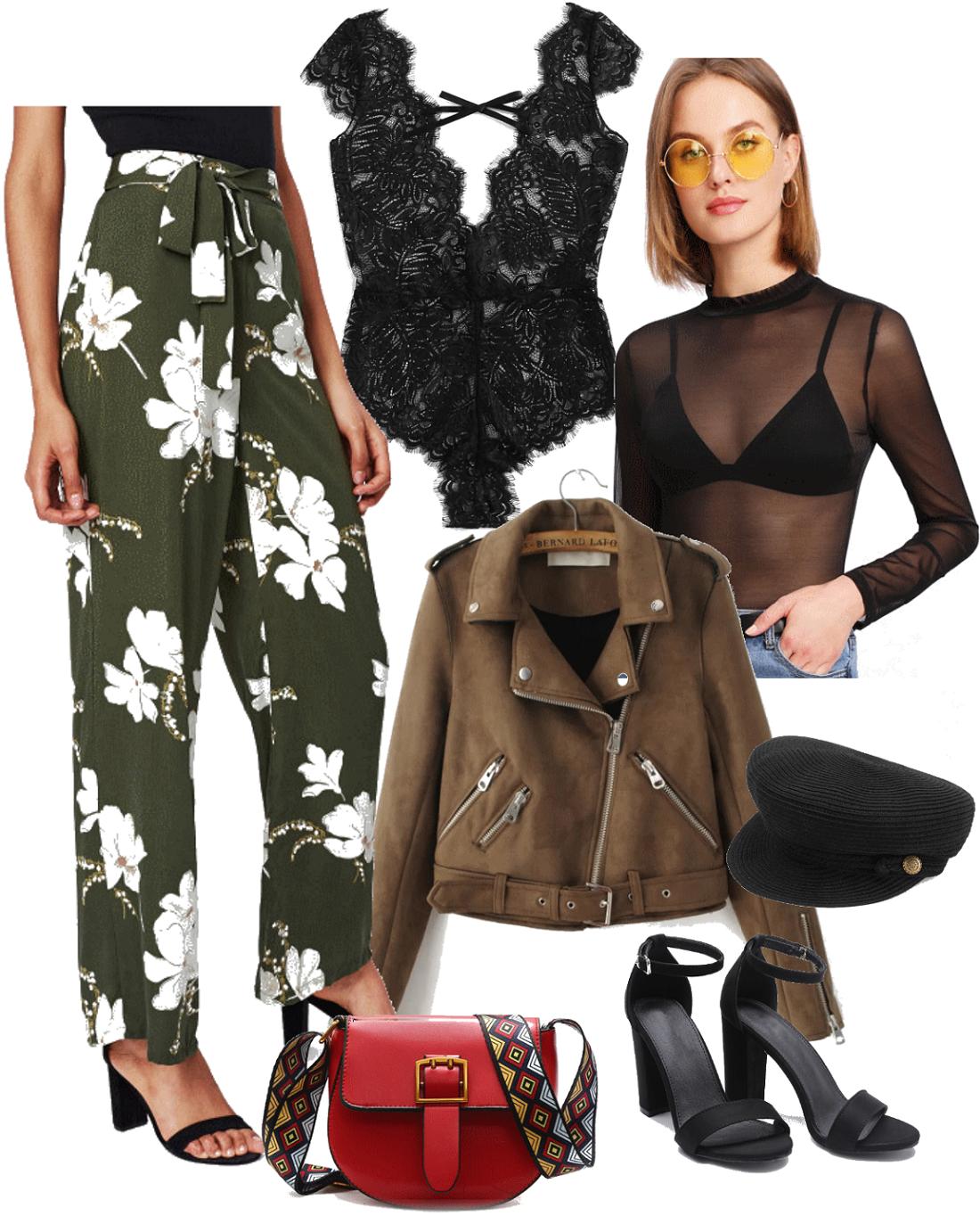 pauline-dress-blog-mode-deco-decoration-lifestyle-tenue-shein-ebay-du-dimanche-85-pantalon-fluide-body-dentelle-perfecto-kaki-sac-rouge-bandouliere-site-asiatique-chinois-sandales-noires