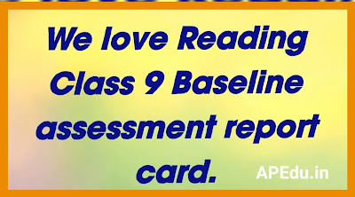 We love Reading Class 9 Baseline assessment report card.