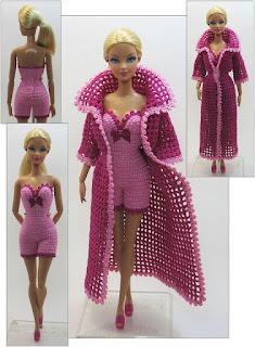 Muñecas Crochet Vestidos Patrones A Para Barbie De Otpkzwxiu