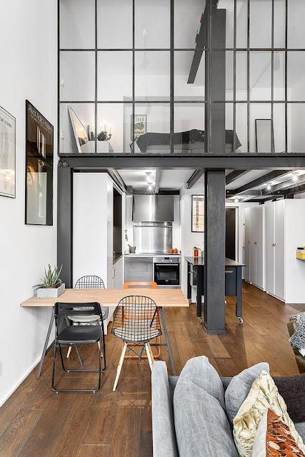 Loft Moderno ee Monocromático