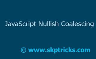 JavaScript Nullish Coalescing