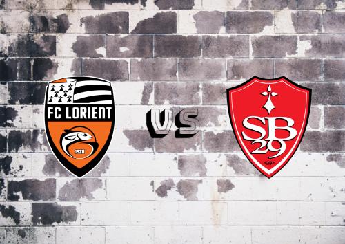 Lorient vs Brest  Resumen