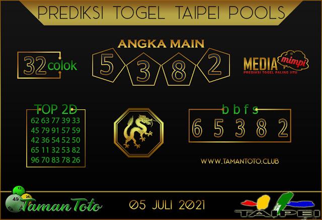 Prediksi Togel TAIPEI TAMAN TOTO 05 JULI 2021