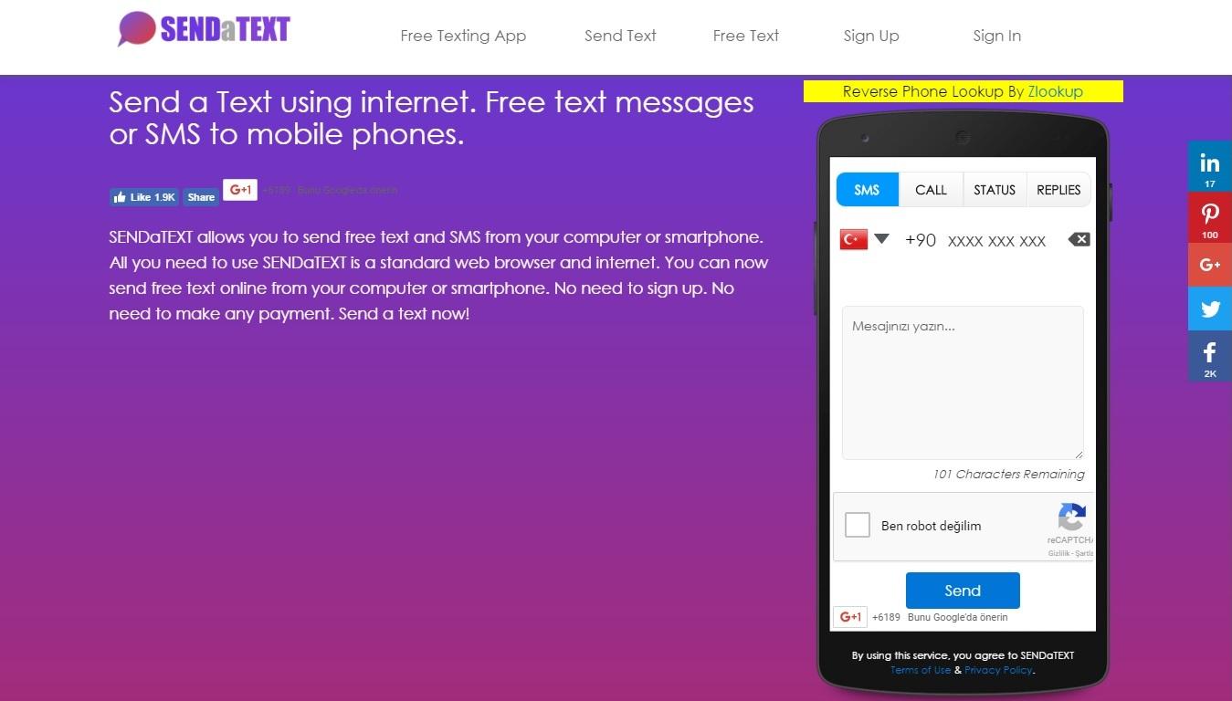 Gizli Numaradan SMS Olarak Mesaj Gönderdim