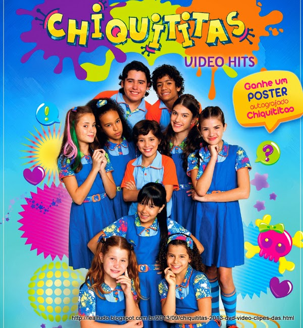 Chiquititas 2013 DVD Video Clipes das Musicas da Novela do SBT com Poster e Extras