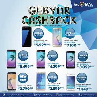 Gebyar Cashback Samsung di Global Teleshop Diskon Hingga Rp 2 Jutaan