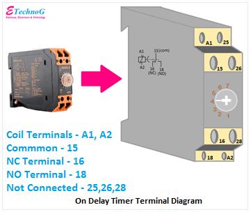 On Delay Timer Diagram, On Delay Timer Terminals