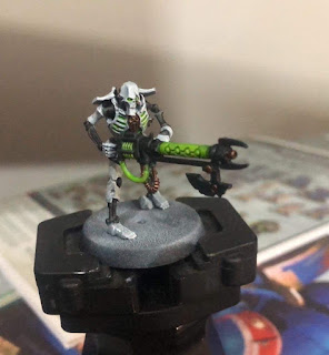 Necron Warrior painted with Games Workshop Contrast Paints