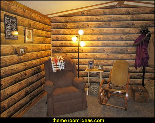 Lake Forest Lodge Mountain Logs Wallpaper