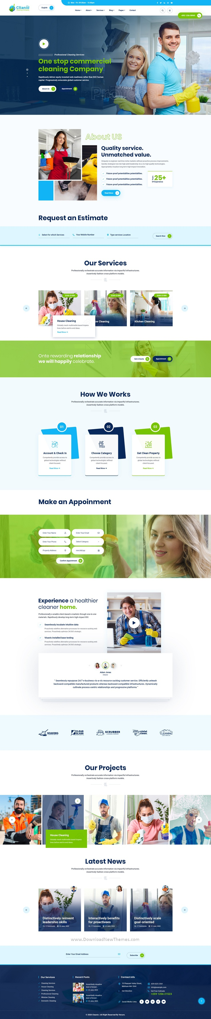 Cleaning Services PSD Template