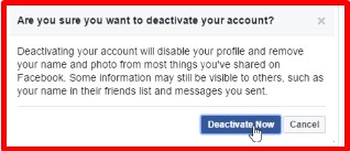 what is deactivating your facebook account