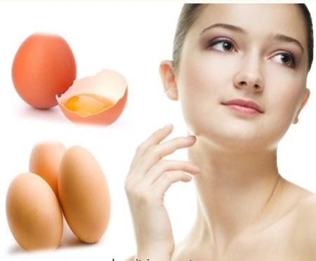 Làn da láng mịn từ trứng gà