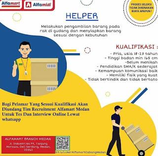 Lowongan Kerja Medan SMA SMK Mei 2020 PT Alfa Group  Helper