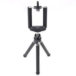 Mini Extendable Tripod 20cm 2 Section With Bracket Black