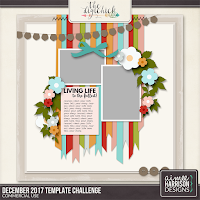 December 2017 - Template Challenge by Aimee Harrison Designs