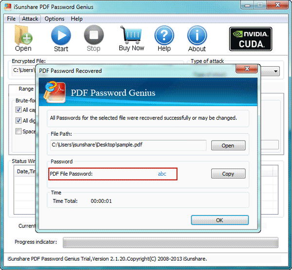 recover pdf open password on a pc