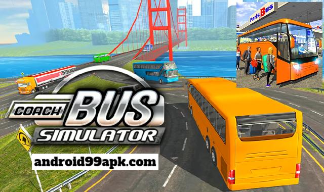 لعبة Coach Bus Driving Simulator v4.8 مهكرة بحجم 87 MB للأندرويد