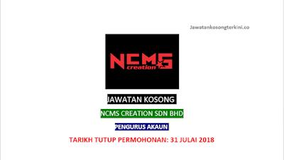 Jawatan Kosong NCMS Creation Sdn Bhd 2018