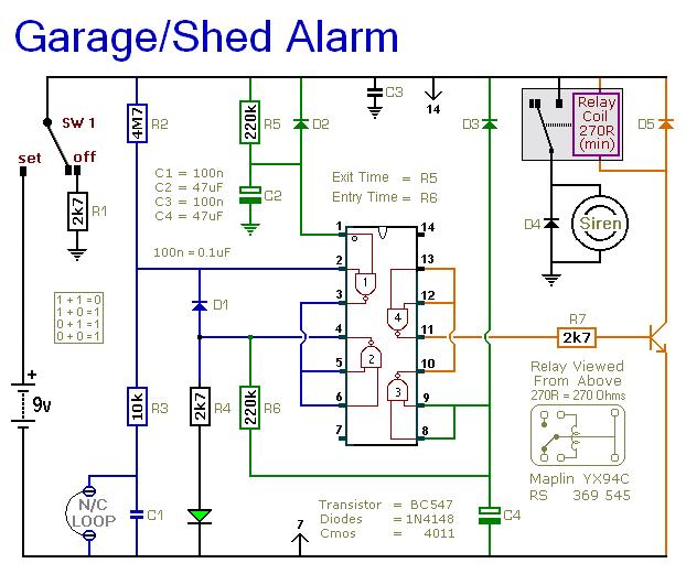 Garage Alarm Circuit
