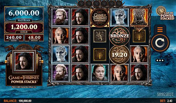 Main Gratis Slot Indonesia - Game Of Thrones Power Stacks Microgaming