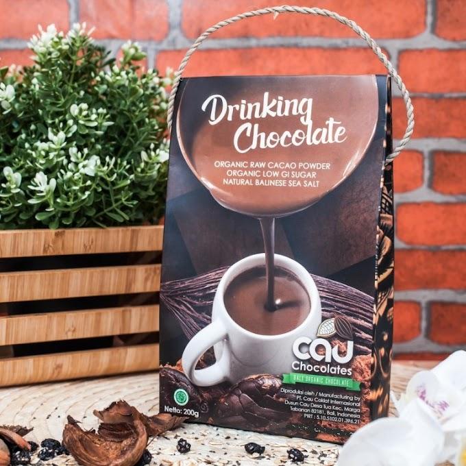 Organic Cau Drinking Chocolate - Minuman Cokelat Instan dengan Bahan-bahan Organik