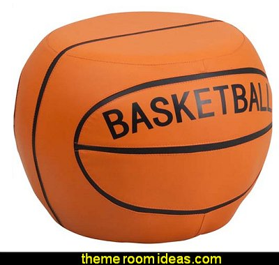 Kids Sports Stools - Basketball  basketball bedroom ideas - Basketball Decor - basketball wall murals - basketball bedding - basketball wall decal stickers - basketball themed bedrooms - basketball bedroom furniture - basketball wall decorations - Basketball wall art - Basketball themed rooms - basketball bedroom furniture - NBA bedding - Boys basketball theme