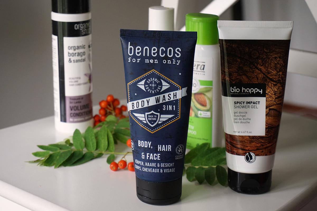 Benecos for men only body, hair & face saippua, Bio happy spicy impact suihkugeeli