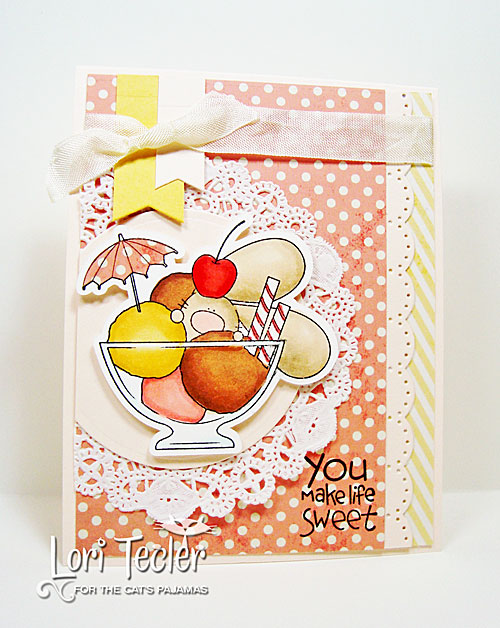 You Make Life Sweet card-designed by Lori Tecler/Inking Aloud-stamps from The Cat's Pajamas