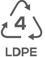 Simbol Daur Ulang Plastik 4 - Low-Density Polyethylene (LDPE)
