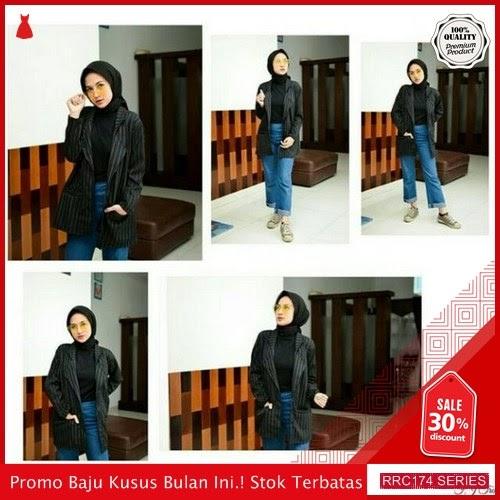 RRC174A43 Alure Black Blazer Wanita Terbaru BMGShop